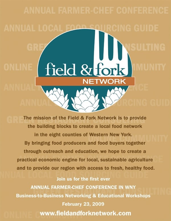 Field & Fork local food network magazine ad