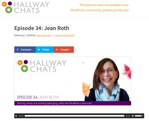 Listen to My Interview on Hallway Chats