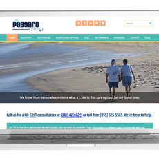 Website design for The Passaro Group